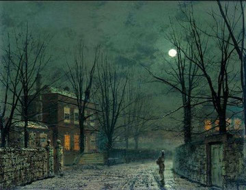 JOHN ATKINSON GRIMSHAW - Vecchio al chiaro di luna (1882)