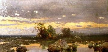 FRANCESCO LOJACONO - Paesaggio al tramonto
