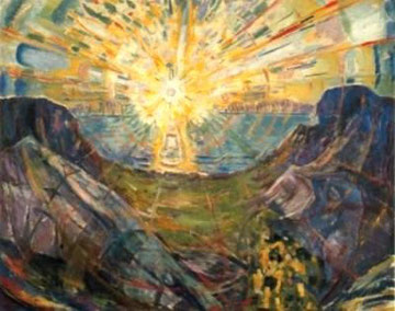 Edvard Munch - Il sole (1912)