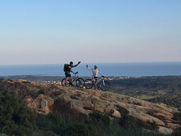 excursion VTT en Sardaigne, Orosei