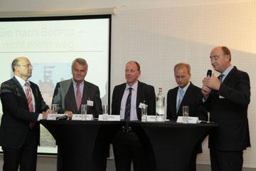 Franz-Josef Lersch Mense, Dr. Wulf Bernotat, Oberbürgermeister Bernd Tischler, Heinrich Hick, Burkhard Drescher.