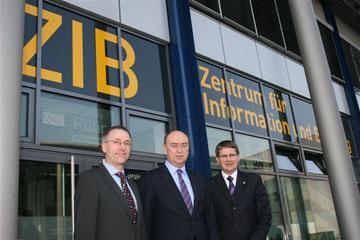 Andreas Klapdor, Burkhard Drescher, Dr. Thomas Braig (v.l.).