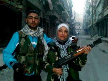 Free Syrian Army - fighter i byen Aleppo