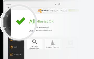 Programmansicht avast Free Antivirus