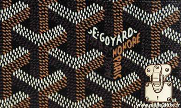 Goyard canvas bag and leather goods signoles