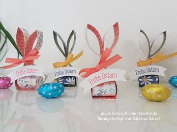 Stampin'Up! Gastgeschenk zu Ostern, Goodie, Häschen, kleiner Hase, Frohe Ostern