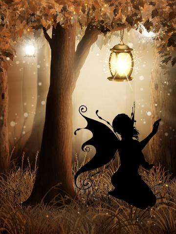 Ombre de fée au pied d'un arbre, fil rouge des Tiroirs Secrets de Fantine