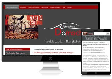 Neue Internetseite für die Fahrschule Damschen, optimiert für Suchmaschinen und mobile Geräte
