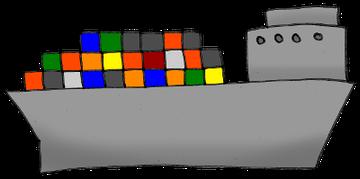 Containerschiff Zeichnung