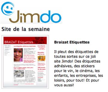 facile de faire un site avec Jimdo