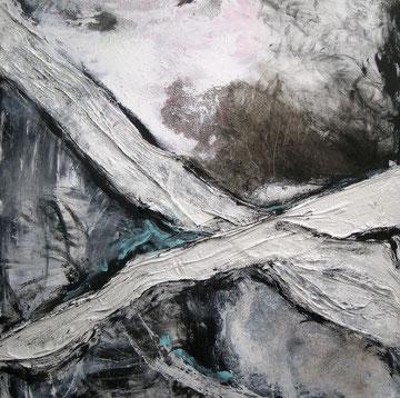 abstraktion in schwarz-weiss