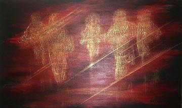 Angels, Acryl auf Leinwand, 60x90cm