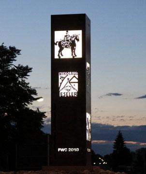 Stele, am FWG-Kreisel in Alzey