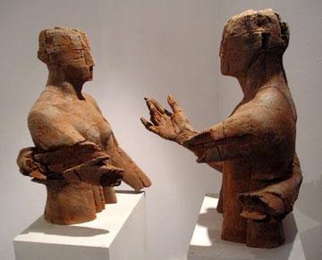 Stumme Begegnung, Bronze, H: 62 x B 69cm