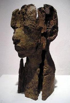 Kammerkopf D, Bronze, H: 39 x B 20cm