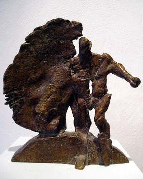Mann halb hohl, Bronze, H: 42 x B: 16cm