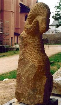 Widder (gelber Sandstein aus dem Elsass, H: 110 cm)