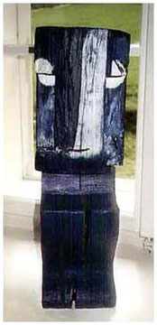 Blue Man (Holz) 51 x 16 x 16