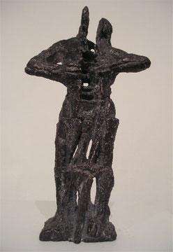 Mensch im Zweispalt, Bronze, H: 26cm