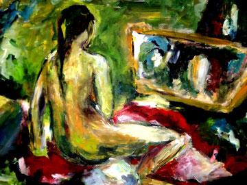 Im Spiegel (2009), Acryl 150x200cm