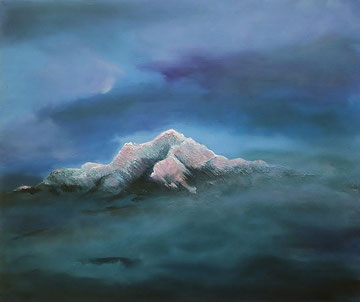 Over the Clouds, Acryl auf Leinwand