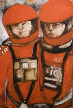 COSMIC LOVE, 140/90cm , 2010, Öl auf Leinwand