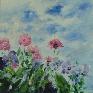 Frühlingsfrische - 50 x 50 cm - Acryl auf Leinwand