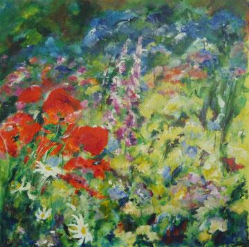 Mai in Giverny 2- 50 x 50 cm -Acryl auf Leinwand