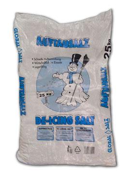 GLOBAL SALZ - Auftausalz / Streusalz (Steinsalz Streugut 25 kg Sackware)