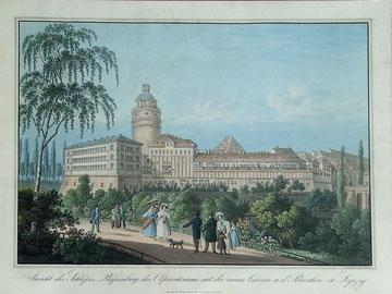 Leipzig: Schloß Pleisenburg, col. Kupferstich gez. und gest. von C. Taubert