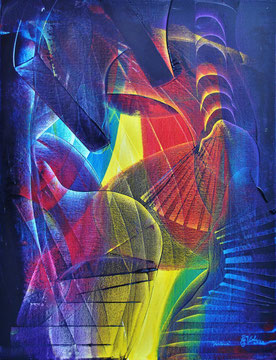Fantasia, oil on canvas, 2014, contemporary abstract art