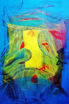 The gate, oil on canvas,, 100cm x 70cm, 2012, contemporary abstract art
