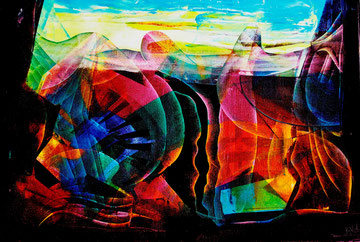 Highlands of Ergon, oil on canvas, 70cm x 100cm, 2012, contemporary abstract art