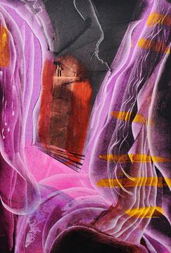 Aurora falls, oil on canvas, 70cm x 100cm, 2012, contemporary abstract art
