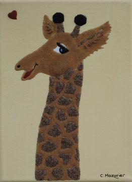Girafe (1); 18 x 24 cm