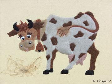 Vache; 24 x 18 cm