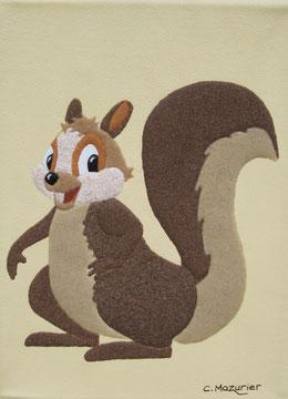 Ecureuil (1); 18 x 24 cm