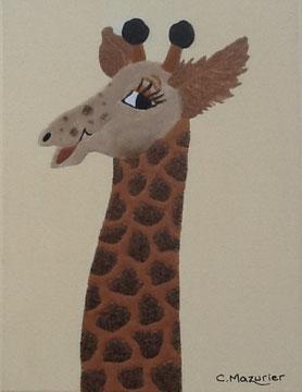Girafe (2); 18 x 24 cm