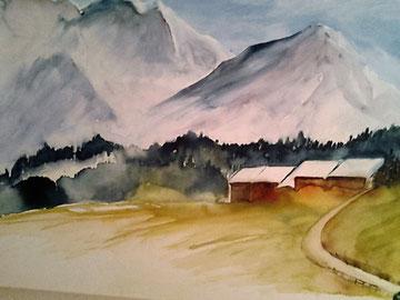 Berglandschaft, Beatrice Ganz