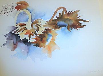 Sonnenblumen im Herbst, Beatrice Ganz