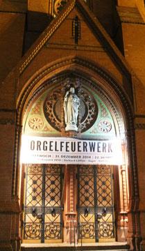 Einladung zum Orgelkonzert Silvester. Ev Kirche zum guten Hirten in Friedenau. Foto: Helga Karl