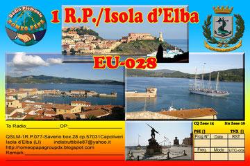 QSL inedita per attivazione Isola d'Elba QSLM 1RP.077 Saverio