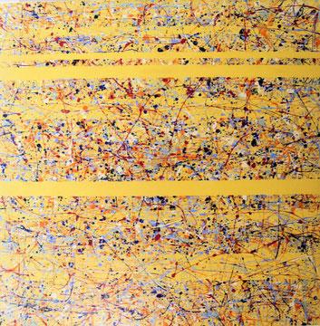 Nr.4 gelb 100x100 Acryl auf Leinwand