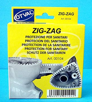 Art. 00104 protezione multiuso zig-zag per tutti i sanitari