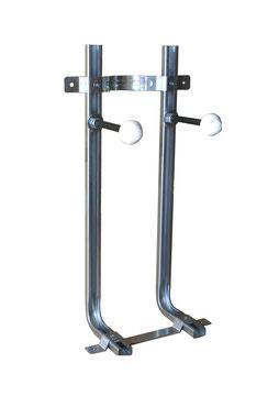 """Art. 00101-M staffa universale a """"L"""" per wc e bidet sospeso premontata. Interasse 180 h160cm"""