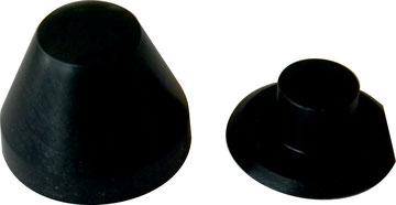 Cappucci copri dado e cartella eccentrica ad alta resistenza meccanica da noi prodotti. Colore Nero