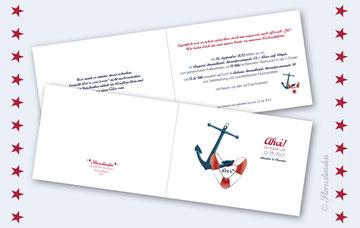 """Einladungskarte """"ANKER"""""""