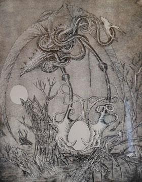l'orobouros-eau-forte-1974