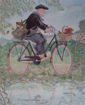 en bicyclette-50x65