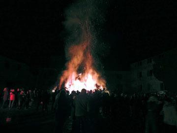 Osterfeuer in Weferlingen, immer ein Besuchermagnet
